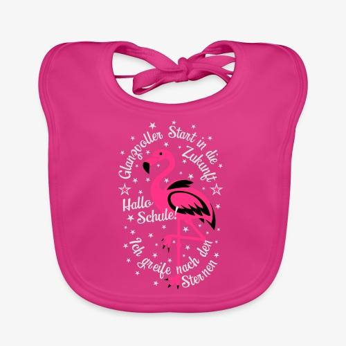 Flamingo Glanzvoller Start Zukunft Schulkind T-Shirt 18 - Baby Bio-Lätzchen