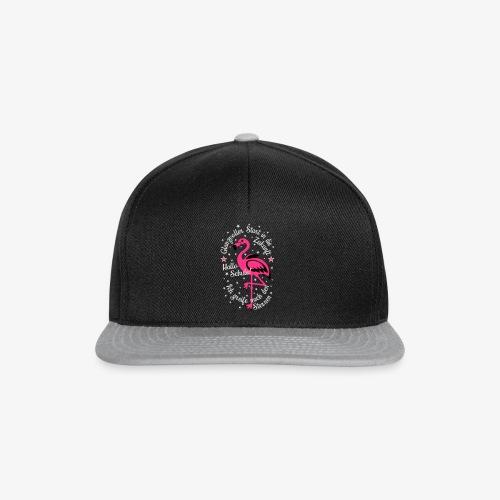 Flamingo Glanzvoller Start Zukunft Schulkind T-Shirt 18 - Snapback Cap