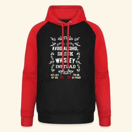 Cool Whiskey Shirt  - Unisex Baseball Hoodie