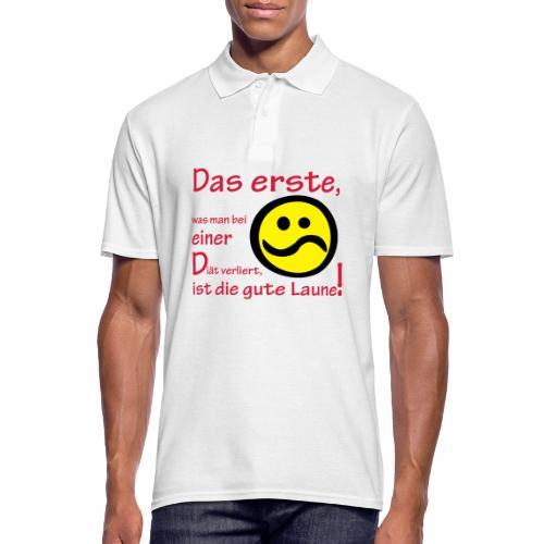 Diät verdirbt die Laune - Männer Poloshirt