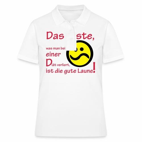 Diät verdirbt die Laune - Frauen Polo Shirt