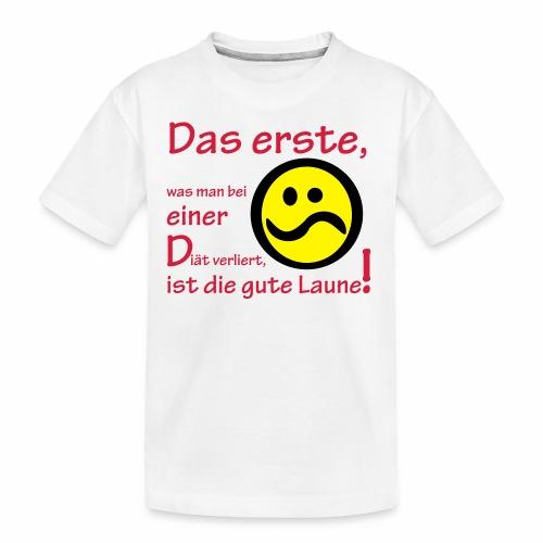 Diät verdirbt die Laune - Teenager Premium Bio T-Shirt