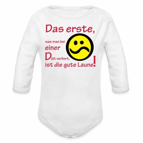Diät verdirbt die Laune - Baby Bio-Langarm-Body