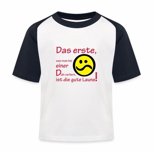 Diät verdirbt die Laune - Kinder Baseball T-Shirt