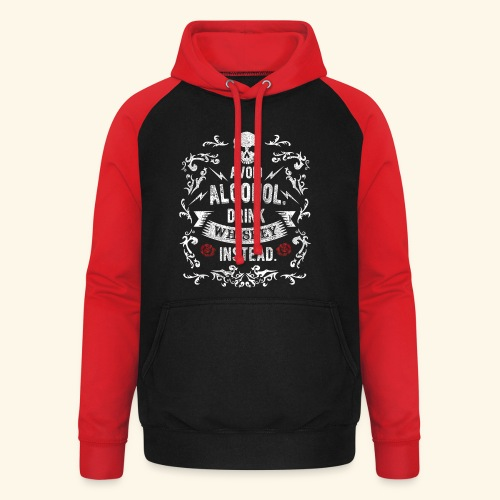 Drink whiskey instead - Unisex Baseball Hoodie
