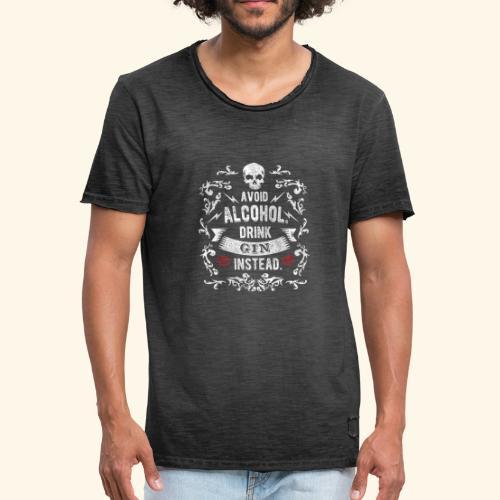 Drink gin instead - Männer Vintage T-Shirt