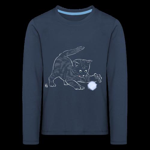 chat noir - T-shirt manches longues Premium Enfant