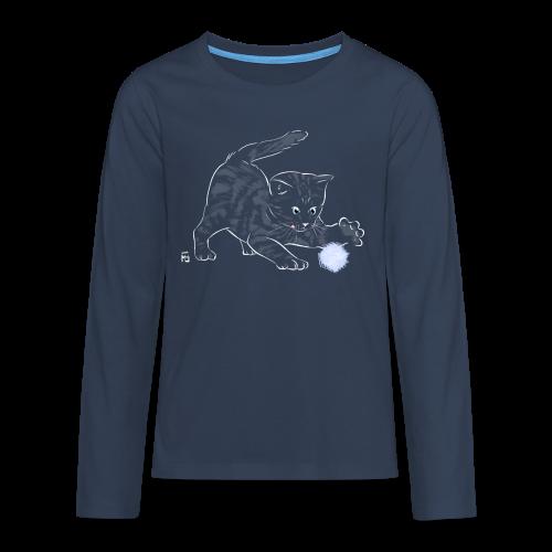 chat noir - T-shirt manches longues Premium Ado