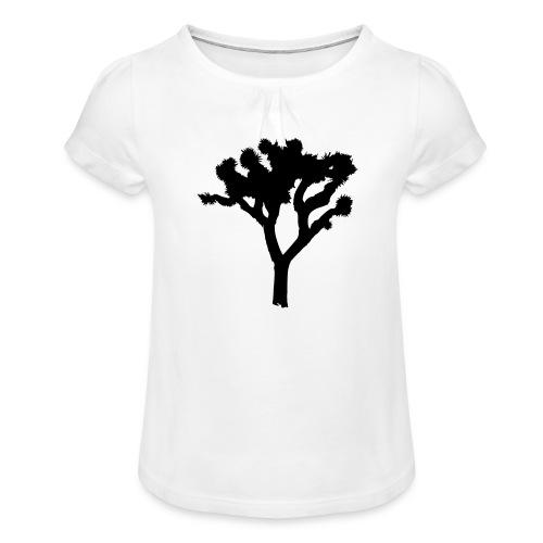 Joshua Tree - Mädchen-T-Shirt mit Raffungen