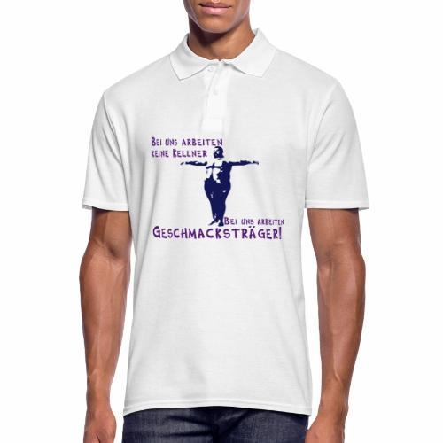 Kellner mit Bauch - Männer Poloshirt