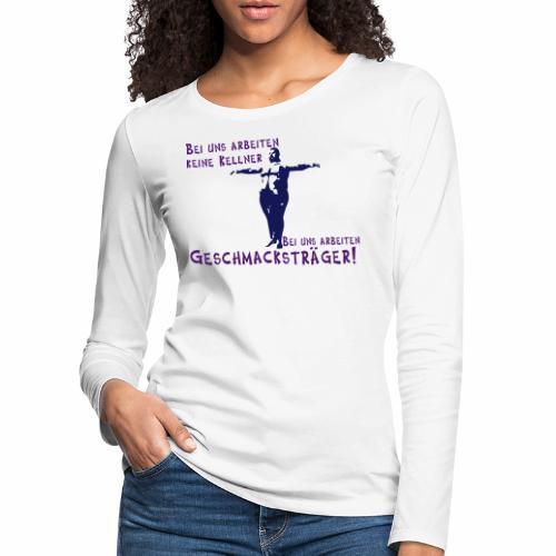 Kellner mit Bauch - Frauen Premium Langarmshirt
