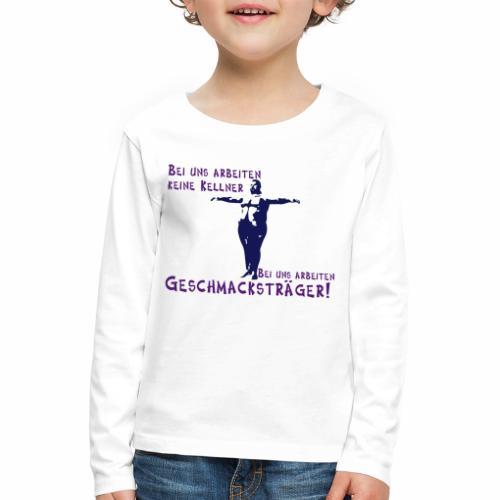Kellner mit Bauch - Kinder Premium Langarmshirt