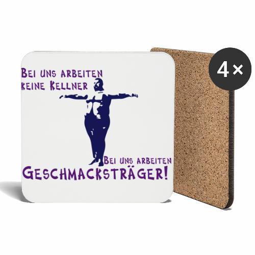 Kellner mit Bauch - Untersetzer (4er-Set)