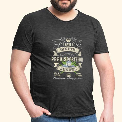 Gin T-Shirt Ginetic Predisposition - Männer Vintage T-Shirt