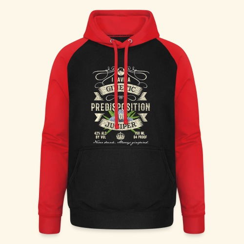 Gin T-Shirt Ginetic Predisposition - Unisex Baseball Hoodie