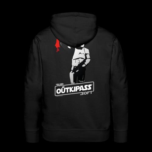 OutKipass Noir - Sweat-shirt à capuche Premium pour hommes