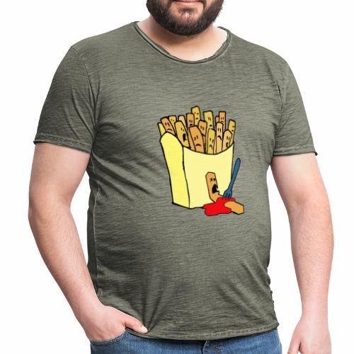 Pommestüte - Männer Vintage T-Shirt