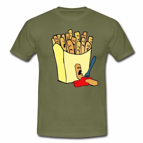 Pommestüte - Männer T-Shirt