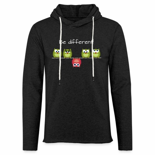 Be different - Leichtes Kapuzensweatshirt Unisex