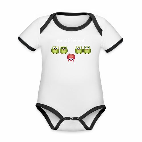 Be different - Baby Bio-Kurzarm-Kontrastbody