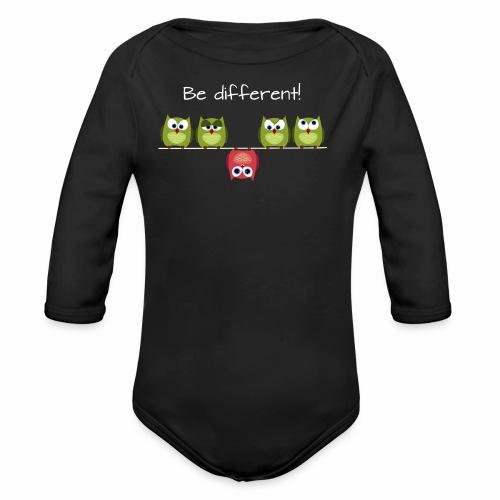 Be different - Baby Bio-Langarm-Body