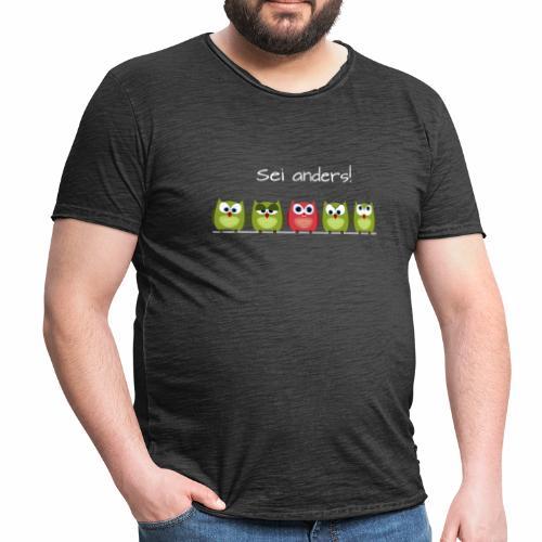 Be different - Männer Vintage T-Shirt