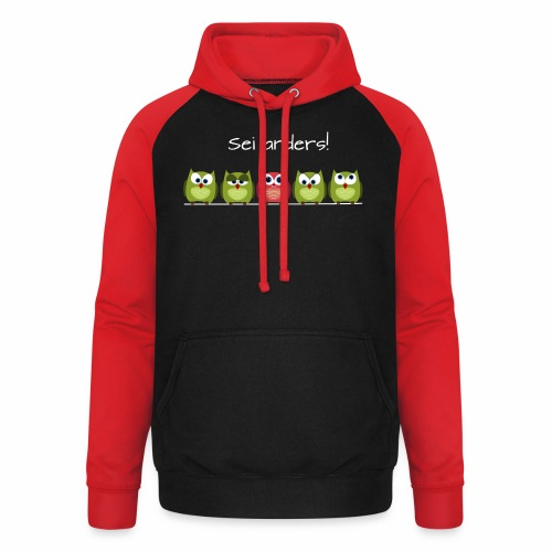 Be different - Unisex Baseball Hoodie