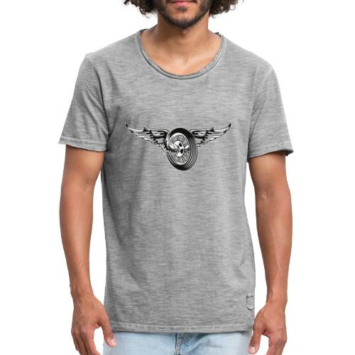 Rueda con alas - Camiseta vintage hombre
