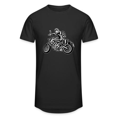 Motero en la carretera - Camiseta urbana para hombre