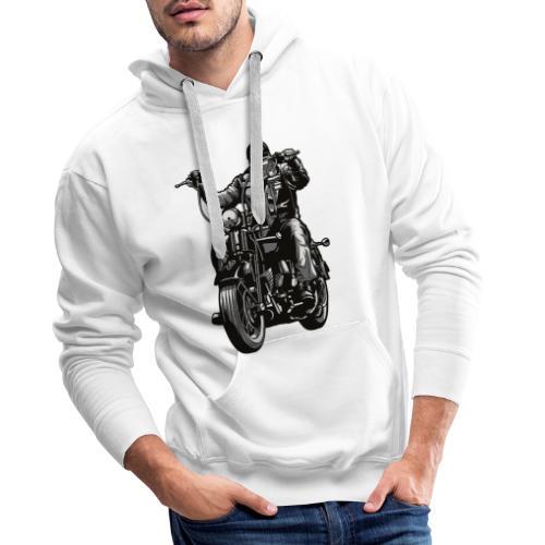 Motero Chopper - Sudadera con capucha premium para hombre