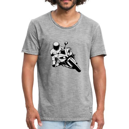 Motociclista - Camiseta vintage hombre