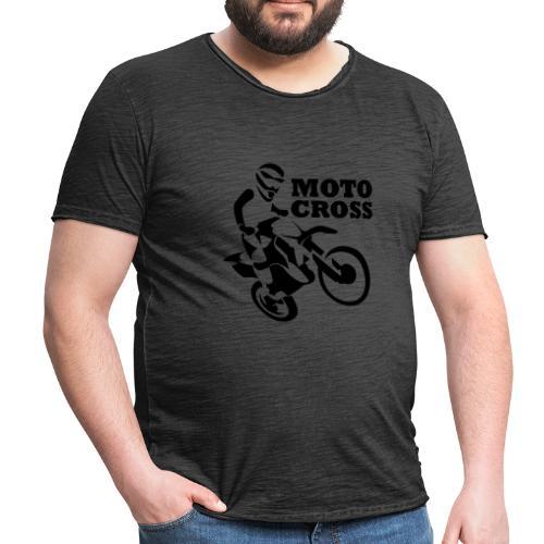 Motocross - Camiseta vintage hombre