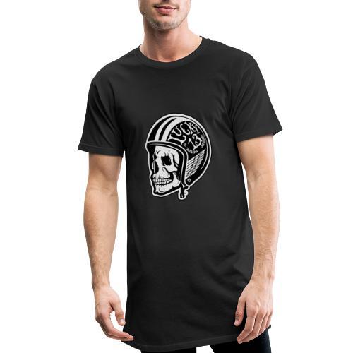 Calavera motera con casco - Camiseta urbana para hombre