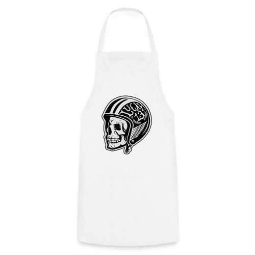 Calavera motera con casco - Delantal de cocina