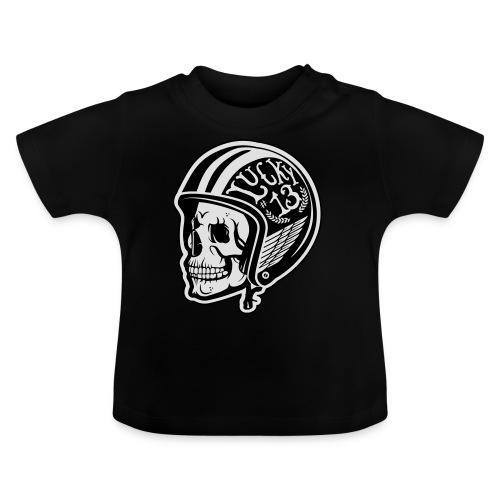 Calavera motera con casco - Camiseta bebé