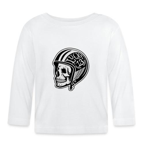 Calavera motera con casco - Camiseta manga larga bebé