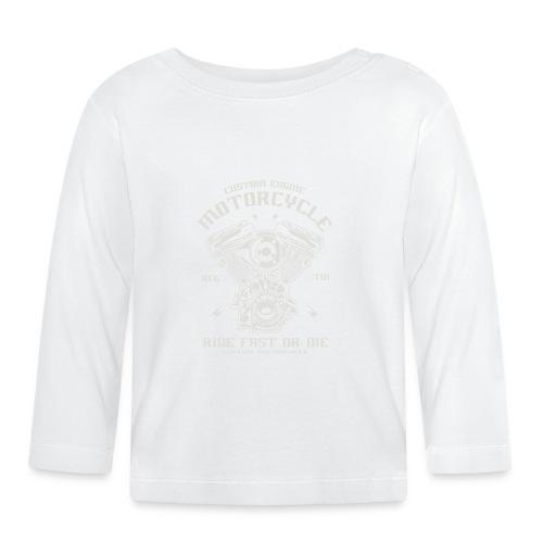 motocicleta personalizada - Camiseta manga larga bebé