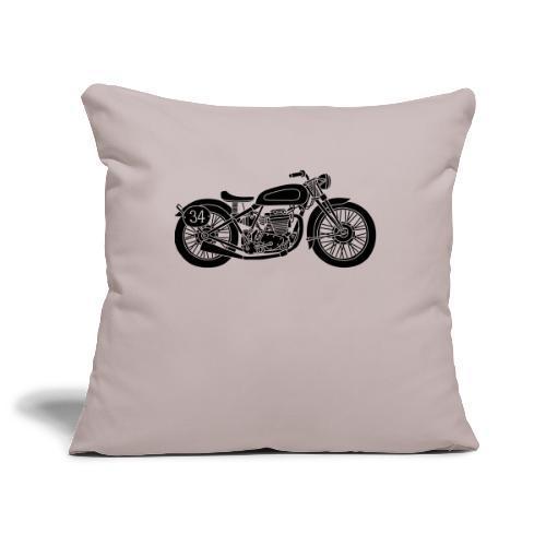 Motocicleta - Funda de cojín, 44 x 44 cm