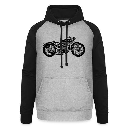 Motocicleta - Sudadera con capucha de béisbol unisex
