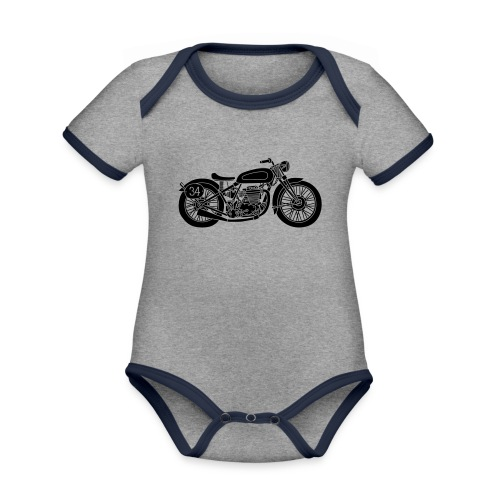 Motocicleta - Body contraste para bebé de tejido orgánico