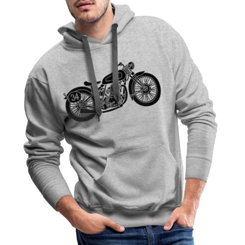 Motocicleta - Sudadera con capucha premium para hombre