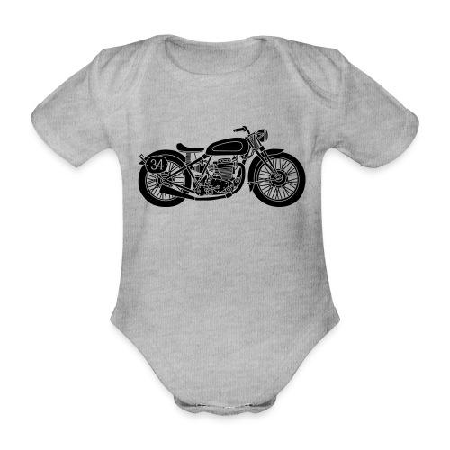 Motocicleta - Body orgánico de maga corta para bebé