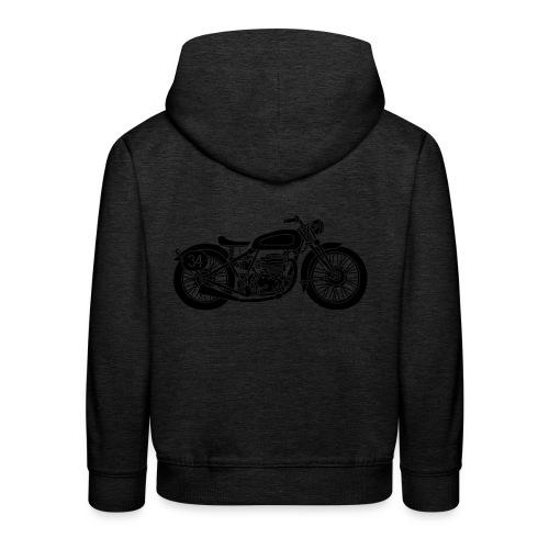 Motocicleta - Sudadera con capucha premium niño