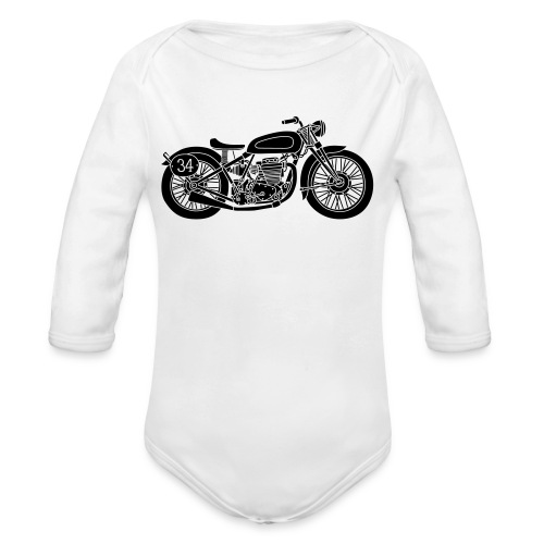 Motocicleta - Body orgánico de manga larga para bebé