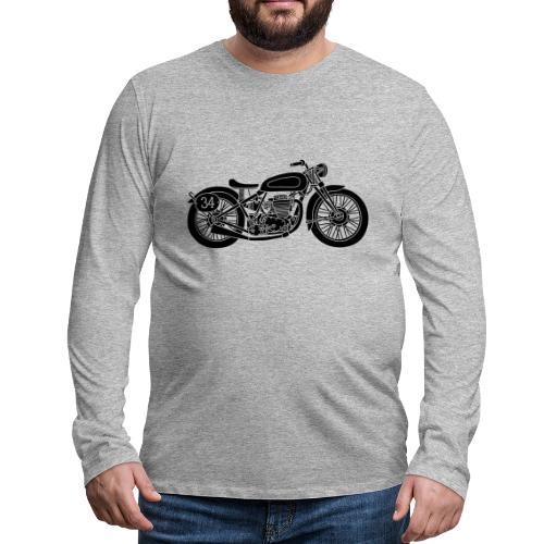Motocicleta - Camiseta de manga larga premium hombre