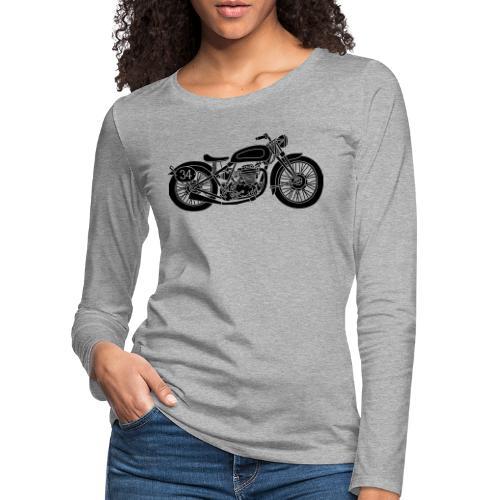 Motocicleta - Camiseta de manga larga premium mujer