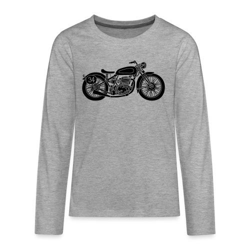 Motocicleta - Camiseta de manga larga premium adolescente