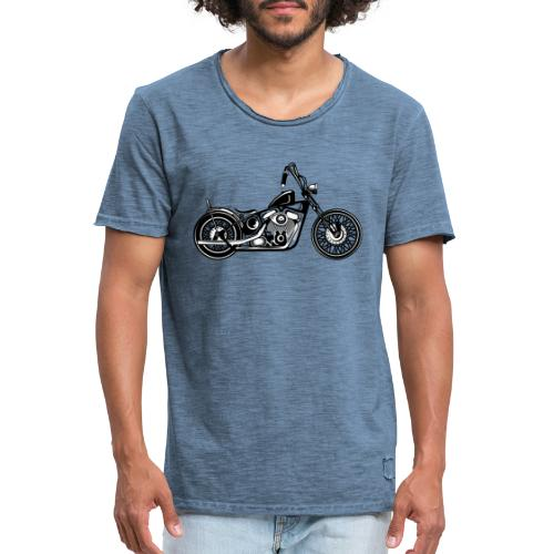 Motocicleta Chopper - Camiseta vintage hombre