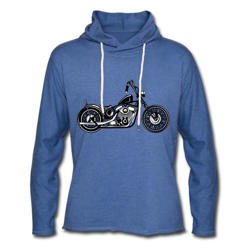 Motocicleta Chopper - Sudadera ligera unisex con capucha