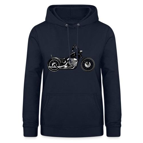 Motocicleta Chopper - Sudadera con capucha para mujer